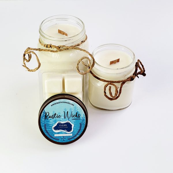 Clean Cotton Candle   Rustic Wick Candle Co.