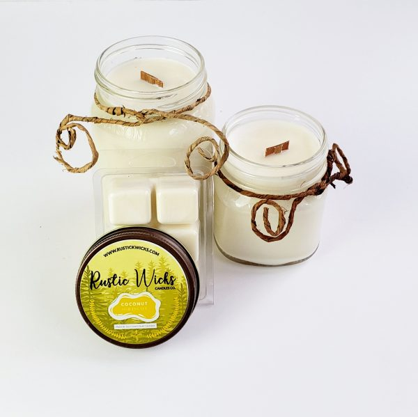 Coconut Candle  Rustic Wick Candle Co.