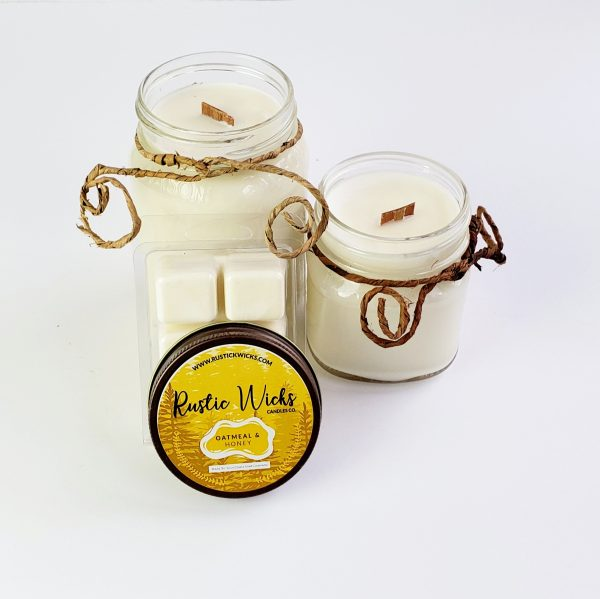 Oatmeal and Honey Candle by Rustic Wick Candle Co.